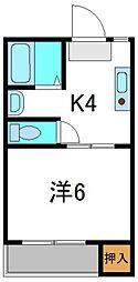 アルファ・スペース[4階]の間取り