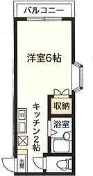 東京都葛飾区奥戸2丁目の賃貸マンションの間取り
