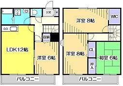 [テラスハウス] 東京都国分寺市本多4丁目 の賃貸【東京都 / 国分寺市】の間取り