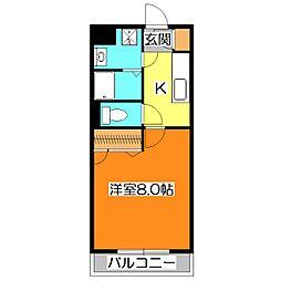 東京都清瀬市野塩5丁目の賃貸マンションの間取り