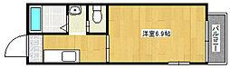 兵庫県神戸市垂水区星陵台6丁目の賃貸アパートの間取り