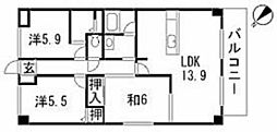 ルネス祇園[1階]の間取り
