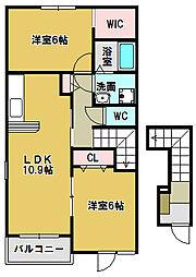 ラ・ルーチェ C[2階]の間取り