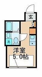 東京メトロ丸ノ内線 後楽園駅 徒歩8分の賃貸マンション 3階ワンルームの間取り