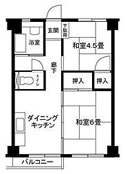 辻堂海岸 10号棟[2階]の間取り