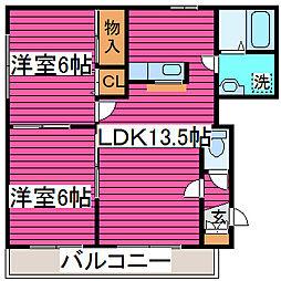 北海道札幌市北区屯田四条6丁目の賃貸マンションの間取り