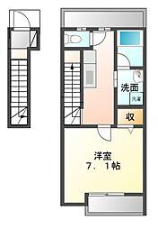 千葉県習志野市新栄2丁目の賃貸アパートの間取り