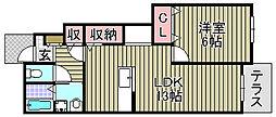 ルミエールマゴジ7[106号室]の間取り