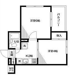 日神パレス梅屋敷 bt[1階]の間取り