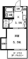 ジュネスK[2階]の間取り