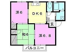 フォーレス森田[D-102 号室号室]の間取り