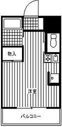 ベイアルファ常盤台[4階]の間取り