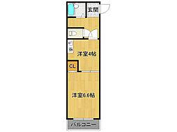 ルミナリー武庫之荘[3階]の間取り