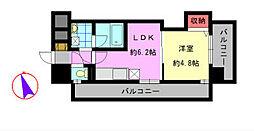デザイナープリンセス中津口[5階]の間取り