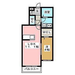M・Mビル 2階1LDKの間取り