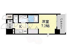 おおさか東線 JR淡路駅 徒歩2分の賃貸マンション 10階1Kの間取り