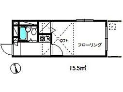 リバティパレス[1階]の間取り