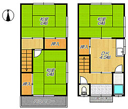 [テラスハウス] 大阪府大東市北条5丁目 の賃貸【大阪府 / 大東市】の間取り