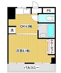 ハイツ横浜[5階]の間取り
