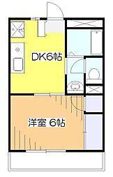 東京都東村山市栄町3丁目の賃貸アパートの間取り