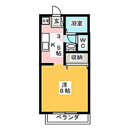 フォレスト桑野 A棟[2階]の間取り