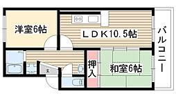 愛知県名古屋市名東区社台3丁目51丁目の賃貸マンションの間取り