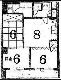 ハイムフロイデン一乗寺[D-7号室号室]の間取り