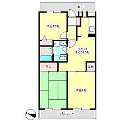 トゥインクス厚木ラインマンション[2階]の間取り