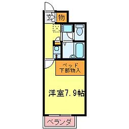 兵庫県神戸市西区竜が岡2丁目の賃貸アパートの間取り