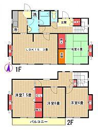[一戸建] 東京都町田市西成瀬2丁目 の賃貸【/】の間取り