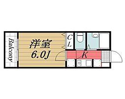 千葉県千葉市若葉区桜木3丁目の賃貸アパートの間取り