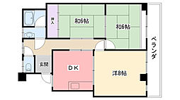 グレース武庫川[302号室]の間取り