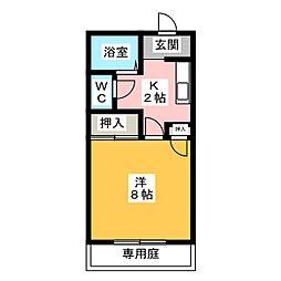 エルシャトー松川A棟[1階]の間取り