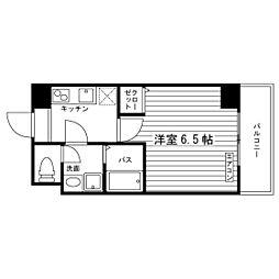 Osaka Metro谷町線 太子橋今市駅 徒歩4分の賃貸マンション 6階1Kの間取り