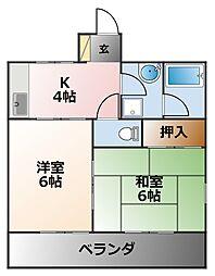 イースト七番館[1階]の間取り