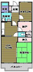 ロジェ長野[4階]の間取り