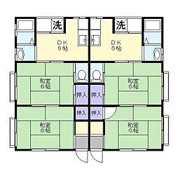 ハウス稲文1[2階]の間取り