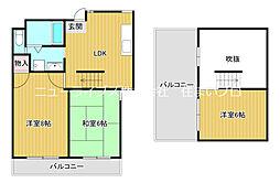 京阪本線 古川橋駅 徒歩22分の賃貸マンション 7階3LDKの間取り