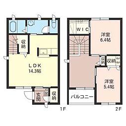 [テラスハウス] 千葉県千葉市若葉区小倉台5丁目 の賃貸【/】の間取り