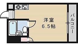 パレユニオン鶴ヶ丘[206号室]の間取り