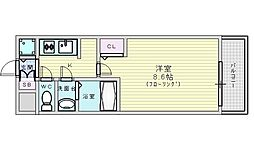 Osaka Metro御堂筋線 江坂駅 徒歩7分の賃貸マンション 14階1Kの間取り