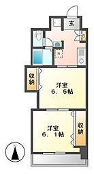 プレステージ名古屋[12階]の間取り