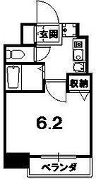 京都府京都市中京区押西洞院町の賃貸マンションの間取り