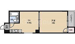 鶴見シャトークワジマ[4階]の間取り