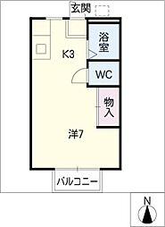 サンライフ清水 B棟[1階]の間取り