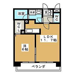La FELMO菊坂(ラ フェルモ)[9階]の間取り