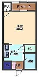ツインシャンテ[1階]の間取り