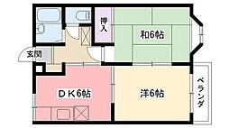メゾンアミニ[2階]の間取り