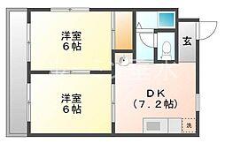 リッツ舞子坂2[4階]の間取り