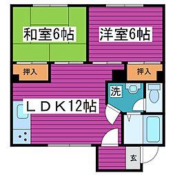 北海道札幌市北区篠路七条4丁目の賃貸アパートの間取り